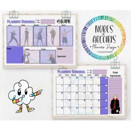 Planificadores Mensuales y Semanales ANIME