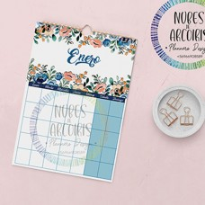 Calendario con Stickers Floral