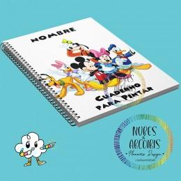 Libro para pintar Mickey y Amigos