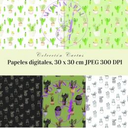 Papel digital Cactus Colección